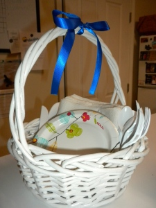 bow on basket